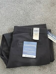 DOCKERS Levis Slim Tapered Fit Flat Front Trousers Pants with stretch W38 L32