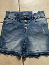 Justice Girls Size 14 Midi jean shorts High waisted NWT nice jean shorts