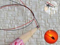 S1158 - 10 Stück SMD LED 0402 orange mit Kabel Microlitze micro LEDs