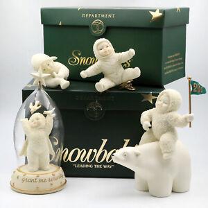 Dept 56 Snowbabies Lot of 4 (2 Ornaments, 2 Figurines) Polar Bear, Serenity