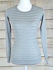 372ffc9fc7 Energie Juniors  Willow Textured-Stripe Sweater Pullover Top Gray Long Sleeve  XS