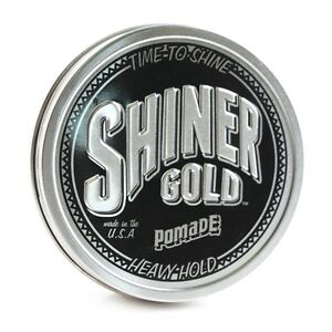 SHINER GOLD 4 Oz Heavy Strong Hold Pomade greaser Made in USA