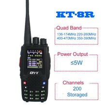 QYT KT-8R Quad Band Handheld Two Way Radio KT8R Color Display 5W Transceiver