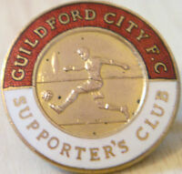 GUILDFORD CITY FC Vintage SUPPORTERS CLUB Badge Maker SIMPSON LONDON 26mm x 26mm