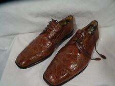 Mezlan Platinum Brown Genuine Crocodile Oxford Dress Shoe Vero Cuoio size 10 M