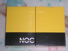 1 DECK NOC V1 Yellow FIRST EDITION Playing Cards -S102199345-6