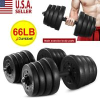Dumbbells Set Adjustable Dumbbell Solid Weights w/Handle for Gym Home Workouts++
