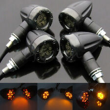 4x Universal Motorcycle LED Amber Lamp Rear Turn Signal Brake light Indicator ky