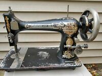 Antique Singer Sewing Machine 1878-1807 Sphinx ,Treadle, Used, Working condition