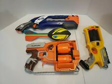 NERF Custom Bundle: Flipfury, Roughcut 2x4, N-Strike and Whistler