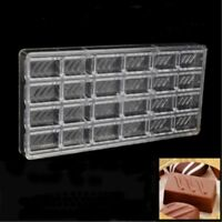 Polycarbonate Chocolate Candy Mold DIY Pastry Baking Tools Rectangle Pattern