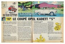 1964 DOCUMENT (ref Ips 1374) AUTO  :  COUPE OPEL KADETT S    2 pages