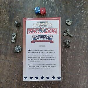 The American Monopoly Special Edition Replacement Manual, Dice & Game Pieces