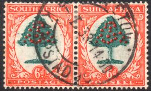 South Africa 1933-48 6d green & vermilion, die I, SG.61, VFU, cat.£50