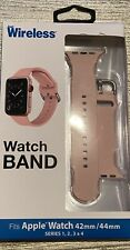 JUST WIRELESS WATCH BAND Pink FITS APPLE 42MM/44MM SERIES 1 2 3 4