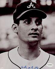 1966-67 Atlanta Braves Mike de la Hoz Autographed 8x10 B/W Photo (JSA)