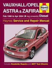 Vauxhall Astra Zafira Diesel 98-04 Haynes Manual 3797