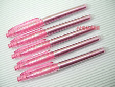 5 x Pilot FriXion 0.4mm Extra Fine Erasable Needle Tip Rollerball Pen, Baby Pink