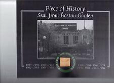 BOSTON CELTICS NBA CHAMPIONSHIPS BOSTON GARDEN SEAT 8 X 10 COA