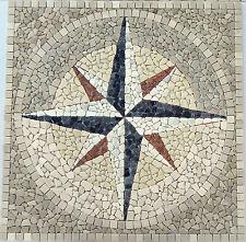 Rosoni 120x120 cm rosone mosaico in marmo incollato su rete,rosa dei venti