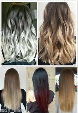 """17"""" Short Half Head Thick One Piece Clip in Hair Extensions Ombre 120 Grams"""