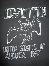 1977 Led Zeppelin Swan Song United States of America Tour (Xl) T-Shirt Blk