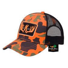 719384a8f28e7 NEW BROWNING RACKED BALL CAP HAT BUCKMARK LOGO OLD SCHOOL BLACK ORANGE CAMO