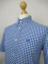 Fred Perry   S/S Button Down Classic Gingham Check Shirt Large (Olympian Blue)