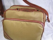 Small camera bag - Bee brand?? - beige - 11 by 7 by 8 - shoulder strap - nice