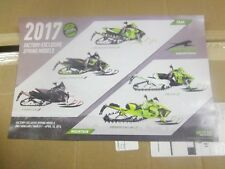 2017 Arctic cat snowmobile Thundercat poster 17x11
