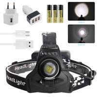 Zoom 30W XHP70.2 LED Hunting Head Torch Light 18650 USB Spotlight Smart Headlamp