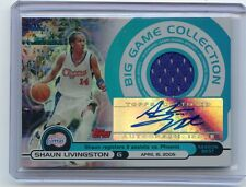 2005-06 TOPPS BIG GAME #BGA-SL SHAUN LIVINGSTON AUTOGRAPH JERSEY 49/199 CLIPPERS