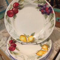 Totally Today Fruits Dinnerware 10 Inch Dinner Plates Set Of Four