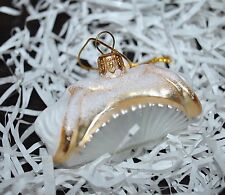 NEW SUR la TABLE CANNOLI Glass Blown Ornament Xmas Poland Food Dessert