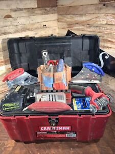 Orcon Magnum Row-Glide Top Cutter Carpet Tool  huge lot with craftsman box NR