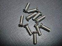 """10pc 8-32 x 1/2"""" with #6 phillips oval.stainless screws Pontiac Oldsmobile Chevy"""