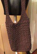 Women's Handbag, Crochet/Knit, Brown (Preowned)