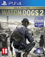 PS4 PlayStation 4 Watch Dogs 2 - Gold Edition PREOWNED Boxed Game