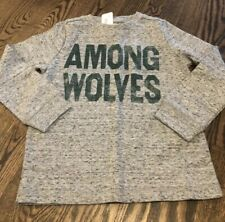 NWT GYMBOREE Retail XS 4 Among Wolves Long Sleeve Top! Nice Material-Marled Gray