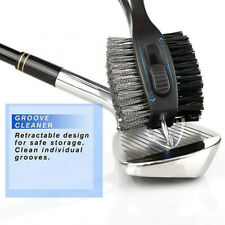 Golf Club Brushes Cleaner And Retractable Groove Sharpener Tools