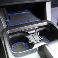 For 2016-2019 Toyota Tacoma Cup Holder Liner Insert Accessories [Bule Trim] 18PC