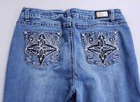 "EARL JEANS Straight Leg Mid Rise Medium Wash Blue Jeans Women's Size 10x29"""