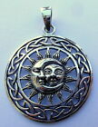 Argent Massif 925 Sun And Lune Pendentif ( 6.5 Grammes ) Tout Neuf