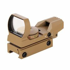 Actical Red Dot Sight 4 Reticles Green & Red Reflex Sight With 20mm Free Mount