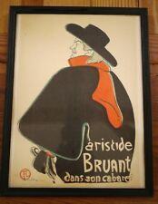 Vintage 50s Henri de Toulouse-Lautrec Aristide Bruant Dans Son Cabaret Print