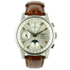 LONGINES CONQUEST HERITAGE MOON PHASE L1.642.4 STAINLESS STEEL AUTO MENS WATCH
