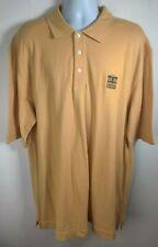 Cutter & Buck Men's Polo Shirt 2XL Centre College Short Sleeve Desert Yellow