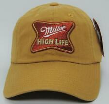 Hat Cap Licensed Miller High Life Tan Mesh Faded Black OC
