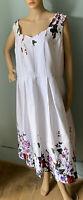 Joe Browns Sleeveless Floral Dress Net Underskirt UK Size 24 White Mix Gt Con