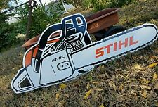 Antique Vintage Style Stihl Chain Saw Sign 4 Foot!!